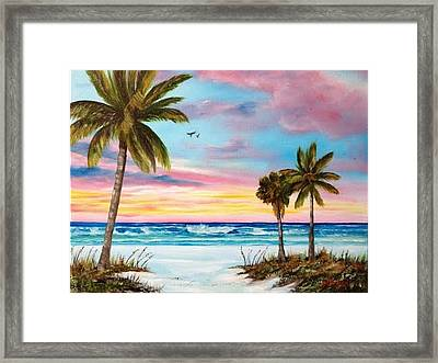 Colors Of Siesta Key Framed Print