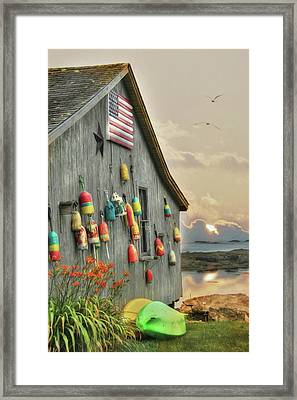 Colors Of Southport Framed Print by Lori Deiter