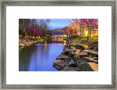 Colors Of Spring At Crystal Bridges Museum Of Art - Arkansas Framed Print