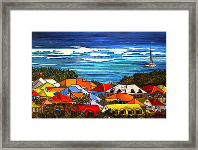 Colors Of St Martin Framed Print by Patti Schermerhorn