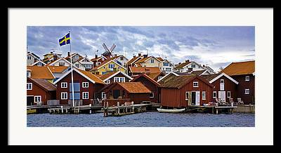 Village By The Sea Photographs Framed Prints