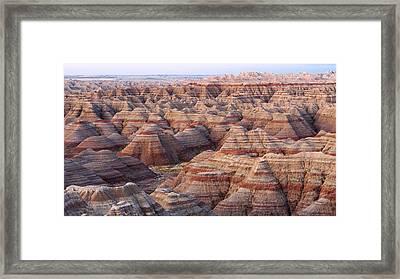 Colors Of The Badlands Framed Print