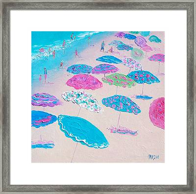 Colors Of The Beach Framed Print by Jan Matson