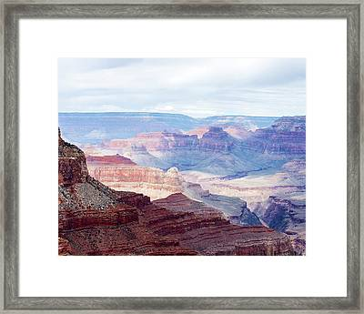 Colors Of The Canyon Framed Print by Ron McGinnis