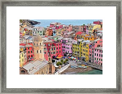 Colors Of The Cinque Terre Framed Print by Frozen in Time Fine Art Photography