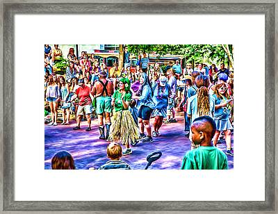 Colors Of The Drum Circle Framed Print by John Haldane