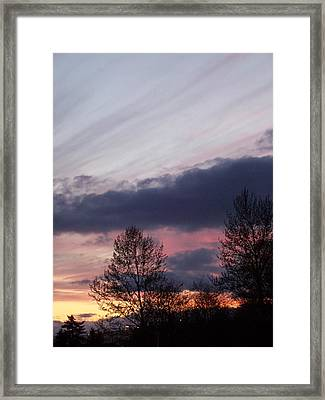 Colors Of The Eve Framed Print