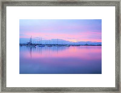 Colors Of The Harbor Framed Print