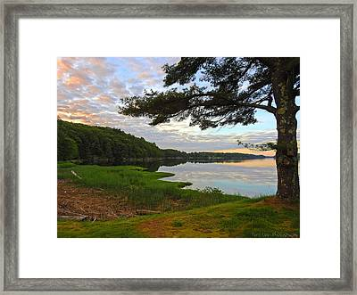 Colors Of The River Framed Print