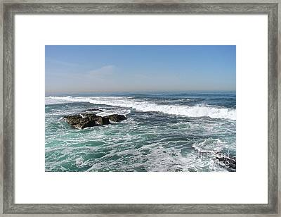 Framed Print featuring the photograph Colors Of The Sea by Carol  Bradley