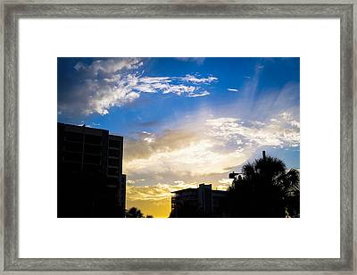 Colors Of The Sky Framed Print