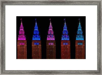 Colors Of The Terminal Tower Framed Print