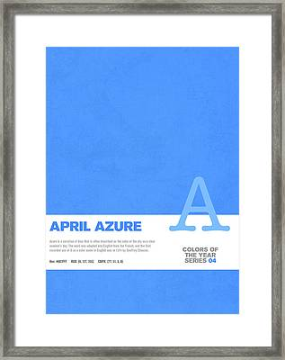 Colors Of The Year Series 04 Graphic Design April Azure Framed Print by Design Turnpike