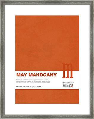 Colors Of The Year Series 05 Graphic Design May Mahogany Framed Print by Design Turnpike