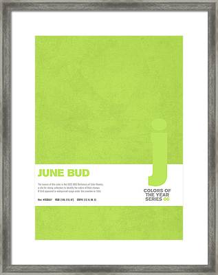 Colors Of The Year Series 06 Graphic Design June Bud Framed Print by Design Turnpike