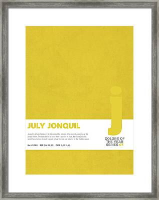 Colors Of The Year Series 07 Graphic Design July Jonquil Framed Print