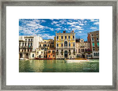 Colors Of Venice - Italy Framed Print