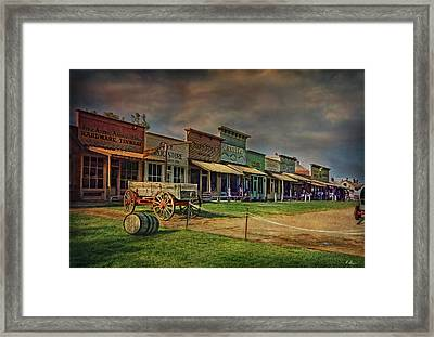 Colors Of Wild West Framed Print