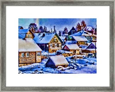 Colors Of Winter Evening Framed Print