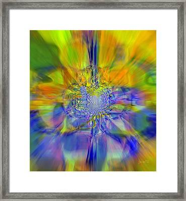 Colors On Blur Framed Print