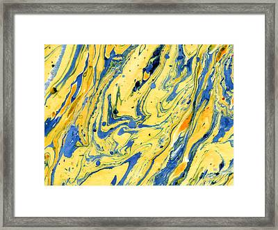 Framed Print featuring the painting Colors On The Lake by Menega Sabidussi