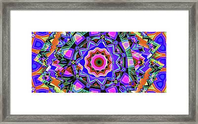Colors O're Laid Framed Print by Ron Bissett