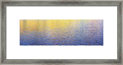 Colors Reflecting On Water, Colorado Framed Print by Panoramic Images