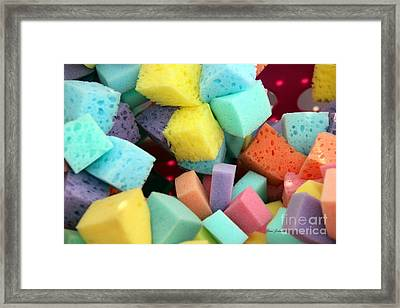 Colors Sponges Framed Print by Yumi Johnson