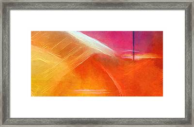 Colorstorm Panoramic Framed Print by Lutz Baar