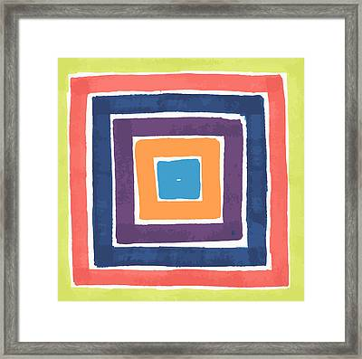Framed Print featuring the drawing Colory Tile by Jill Lenzmeier