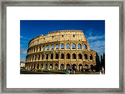 Colosseo Roma Framed Print by Rainer Kersten