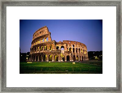 Colosseum At Night, Rome, Italy Framed Print by Richard Nowitz