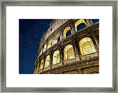 Framed Print featuring the photograph Colosseum by Brian Bonham