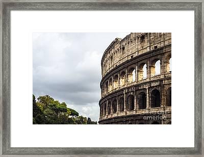Colosseum Closeup Framed Print