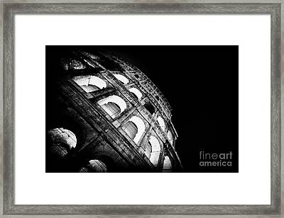 Colosseum In Rome By Night Framed Print