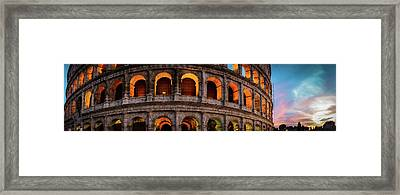 Colosseum In Rome, Italy Framed Print