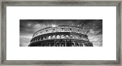 Colosseum - Rome Framed Print by Rod McLean