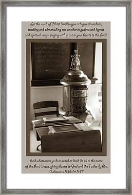 Colossians 3 Framed Print by Kim Hawkins Eastern Sierra Gallery