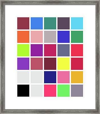 Colour Alphabet - 24 Framed Print