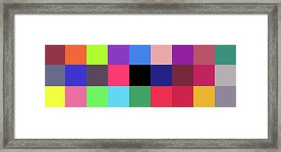 Colour -alphabet- Framed Print by Coded Images