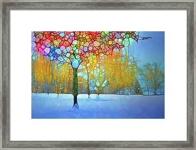 Colour Amongst The Snow Framed Print