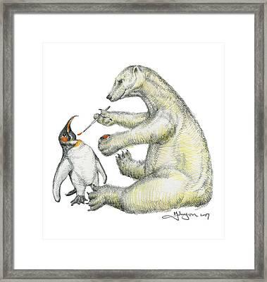 Colour Bear Framed Print