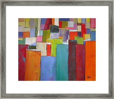 Colour Block7 Framed Print