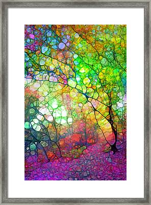 Colour Combustion Framed Print by Tara Turner