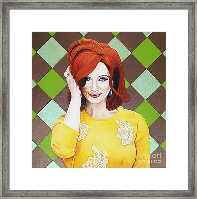 Framed Print featuring the painting Colour Inspired Beauty by Malinda Prudhomme