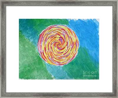 Colour Me Spiral Framed Print