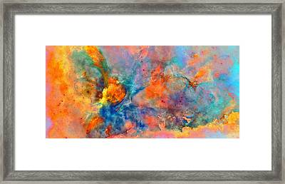 Colour Of Living Space Framed Print by Yannick Wende