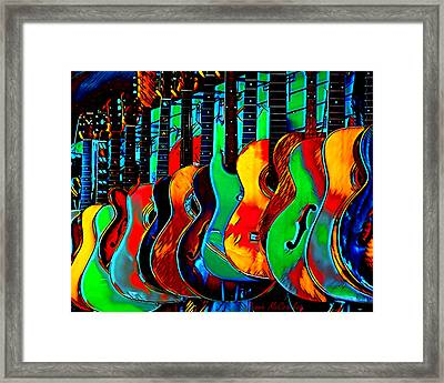 Framed Print featuring the digital art Colour Of Music by Pennie McCracken