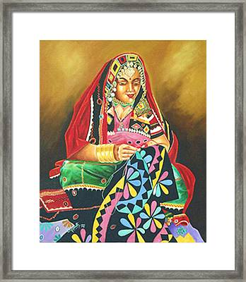 Colour Of Rajasthan Framed Print by Ragunath Venkatraman