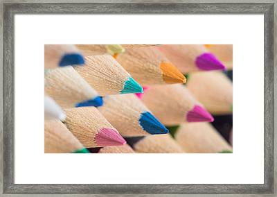Colour Pencils 3 Framed Print